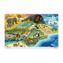 Placemat Where animals live, Crocodile Creek