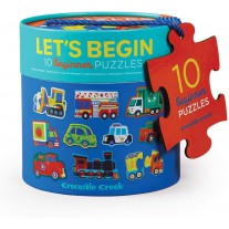 Let's Begin puzzels voertuigen 10 x 2 st, Crocodile Creek