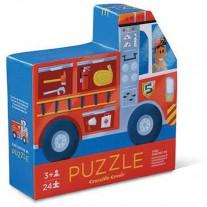 Dubbelzijdige puzzel brandweer 24 st., Crocodile Creek