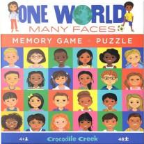 Memory & Puzzel 48 st. One World, Crocodile Creek
