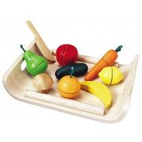 Snijset fruit en groente, Plan Toys