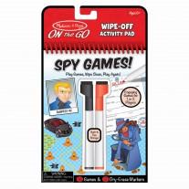 Wipe-off activiteitenblok spionagespellen