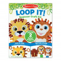 Loop It! DIY handpoppen safari, Melissa & Doug