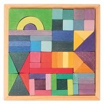 Houten blokpuzzel Grafisch, Grimm's
