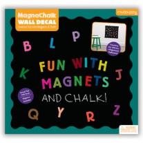 Zelfklevend krijtbord met letters, Mudpuppy