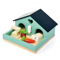 Huisdieren poppenhuis konijn, Tender Leaf Toys