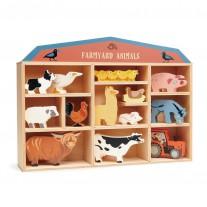 Boerderijdieren in kastje, Tender Leaf Toys