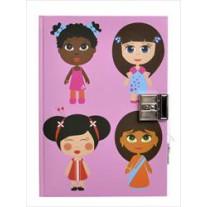 Dagboek met slot Paper Dolls, Bobble art