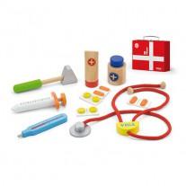 Houten doktersset in koffertje