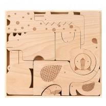 Houten Puzzle & Play Safari Jumble, Petit Collage