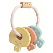 Houten sleutelbos pastel, Plan Toys
