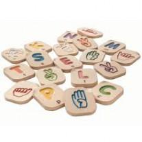Gebarentaal alfabet, Plan Toys