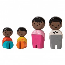 Buigpopjes bruine familie, Plan Toys