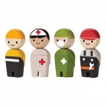 Buigpopjes hulpdiensten, Plan Toys