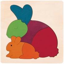 Houten puzzel konijn, Hape