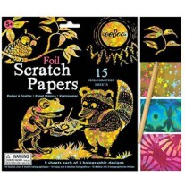 Scratch Papers holografische folie, Eeboo