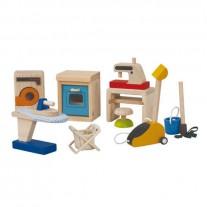 Accessoires huishouden poppenhuis, Plan Toys