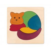 Houten puzzel kat, Hape
