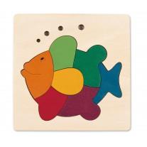 Houten puzzel vis, Hape