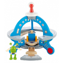 UFO met vliegstoel en ruimtewezen, Hape