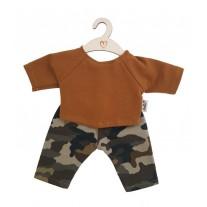 Broek en shirt Camouflage Ochre babypop 34 cm, Hollie