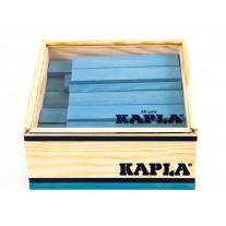 40 Kapla plankjes in kistje, lichtblauw