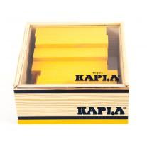 40 Kapla plankjes in kistje, geel