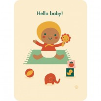 Ansichtkaart Hello baby! speeltijd, Bora