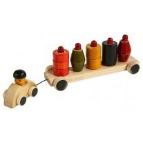 Eco vrachtwagen stapelblokken, Leaf Toys