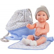 Babypop jongen met tas, Paola Reina Mini Pikolines