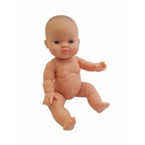 Babypop Aziatisch meisje blauwe ogen 34 cm, Paola Reina