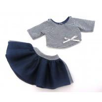 Kledingset Bretons meisje babypop 34 cm, Paola Reina