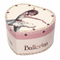 Hartvormige muziekdoos ballerina Glow-in-the-dark