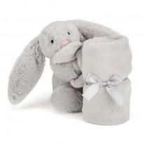 Knuffeldoekje grijs konijntje, Jellycat