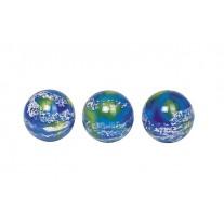 Stuiterbal 3D aarde, 49 mm