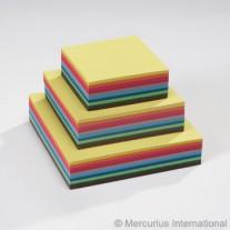 500 Vierkante vouwblaadjes 12 cm, Mercurius