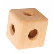 Houten kubus met bel, Grimm's