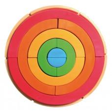 Gigantische bogenpuzzel kleurencirkel, Grimm's
