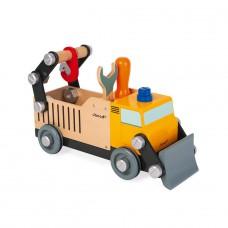 Vrachtwagen wegwerker, Janod Brico'Kids