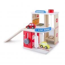 Garage met wasstraat en 2 auto's