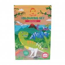 Kleur- en stickerset Dinosaurs, Tiger Tribe