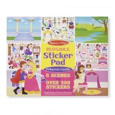 Herbruikbaar stickerblok Prinsessenkasteel, Melissa & Doug