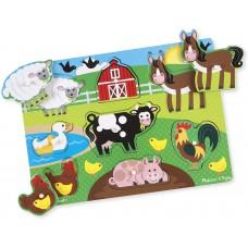 Knoppuzzel boerderijdieren, Melissa & Doug