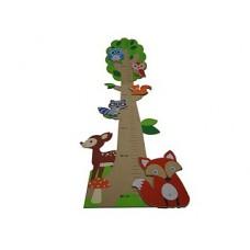 Houten groeimeter bosdieren