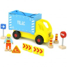 Containervrachtwagen met onderdelen