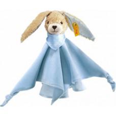 Knuffeldoekje konijn Hoppel blauw, Steiff