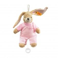 Muziekdoos konijn Hoppel roze, Steiff