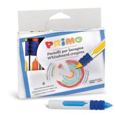 8 uitwisbare waskrijtjes met grip, Primo