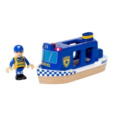 Politieboot met licht en geluid, Brio