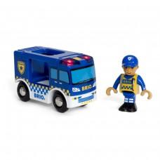 Politieauto met agent, Brio